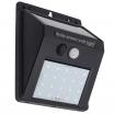 Aplique Solar 3w 6500k  Negro Sensor Movimiento3m Alcance 120 grados 11,5×8,5×4,5 Ip65