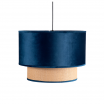 Colgante 2 Pantalla Nerva 1xe27 Azul Reg X 40d
