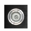 Empotrable Itaca Cuadr. 10×10 Negro/cromo Gu10