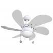Ventilador Blanco Delfin 6 Aspas Blanc0 1xe27 41x65x65 Cm
