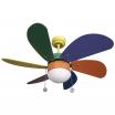 Ventilador Colores Delfin 6 Aspas Color 1xe27 41x65x65 Cm