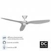 Ventilador Dc Delfos 15w 4000k Niq/plata 3asp Abs  Comp.alexa Y Siri 40x132d 1500lm Remoto