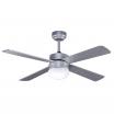 Ventilador Plata Tramontana 4 Asp.rev Plata/haya 2xe27 40x107x107 Cm 3 Veloc. C/remoto